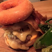 Dubble cheeses doughnut burger